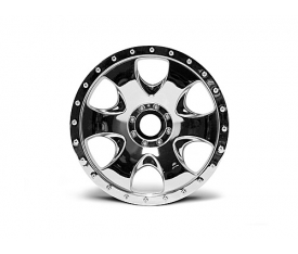 HPI Warlock Spoked Standard Offset 17mm Monster Truck Wheels (2) (Chrome)